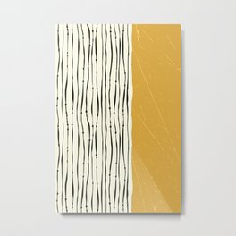 Gold Zebra Stripes Metal Print