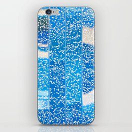 Air bubbles in blue water iPhone Skin
