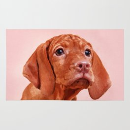 Vizsla puppy- Hungarian pointer Rug