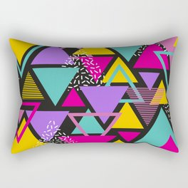 Memphis Triangles Rectangular Pillow
