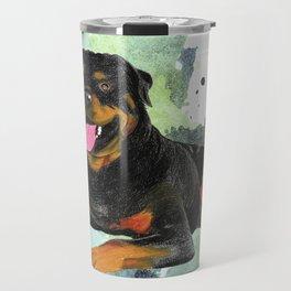 Rottweiler happy Travel Mug