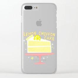 All American Classic Lemon Chiffon Cake Clear iPhone Case