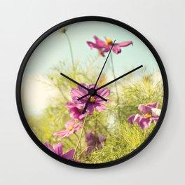 summer cosmos Wall Clock