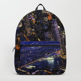 New York City, Manhattan, USA night cityscape Backpack