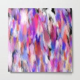 Multi Color Abstract  Metal Print