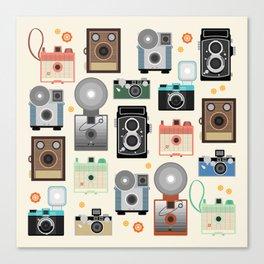 1960s Vintage Cameras Canvas Print