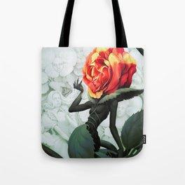 Alice in Wonderland Rose Tote Bag