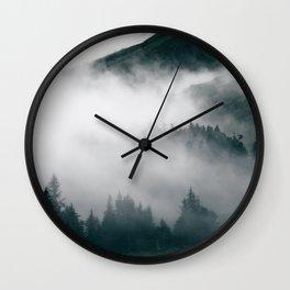 Forest Fog XVIII Wall Clock