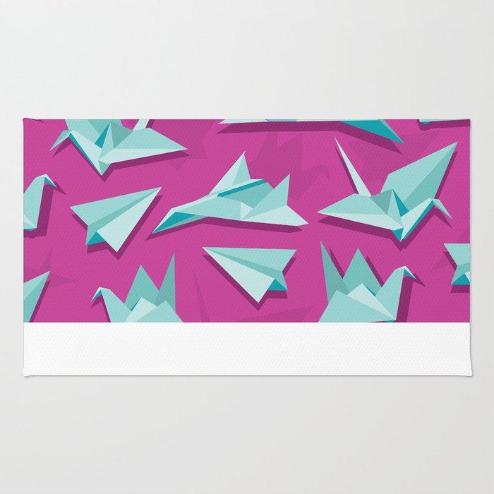 planes and cranes Rug