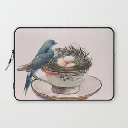 Bird nest in a teacup Laptop Sleeve