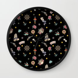 Sailor Tattoos, Sailor, Tattoo, Anchors Wall Clock
