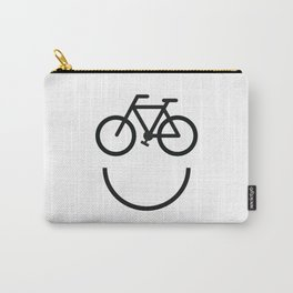 Bike face, bicycle smiley Carry-All Pouch