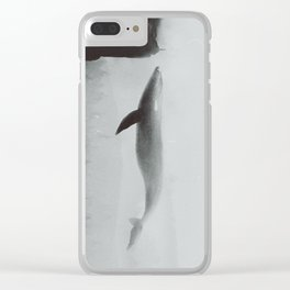 Flying Whale Clear iPhone Case