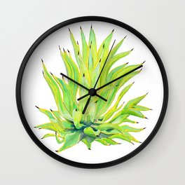 Sunlit Octopus Agave Wall Clock