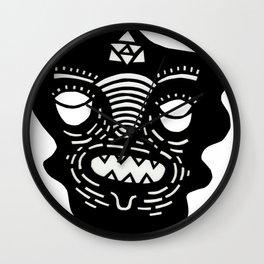 stencil face Wall Clock