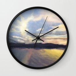 Summer Sunset Over Lake Winnipesaukee in New Hampshire Wall Clock