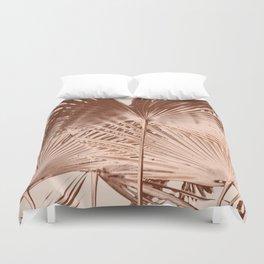 Arecales Palmae Copper Cocos Duvet Cover