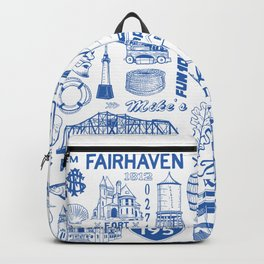 Fairhaven Massachusetts Print Backpack