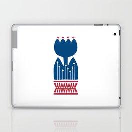 Nordic Blue Flower Laptop & iPad Skin