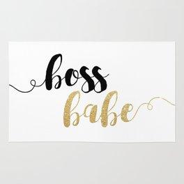 Boss Babe | Gold Glitter Rug