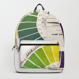 Vintage Color Wheel - Art Teaching Tool - Rainbow Mood Chart Backpack