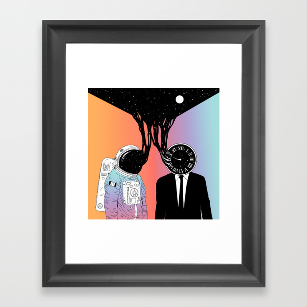 A Portrait Of Space And Time ( A Study Of Existenc… Framed Art Print by Nduenas FRM8026978
