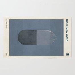 "Aldous Huxley ""Brave New World"" - Minimalist illustration literary design, bookish gift Rug"