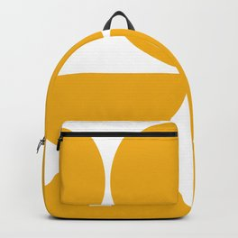 Mid Century Modern Yellow Square Backpack