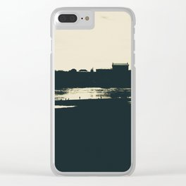 Silhouette des Dresdener Elbufers Clear iPhone Case