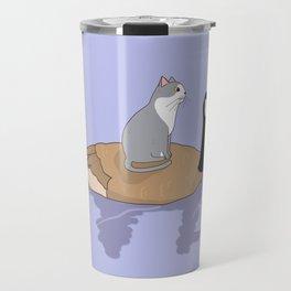 CAT AND DUCK FRIENDSHIP GOALS Travel Mug