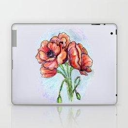 Poppy Flowers Sketch Laptop & iPad Skin