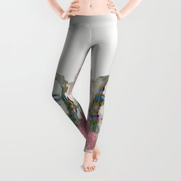girl and flowers color Leggings