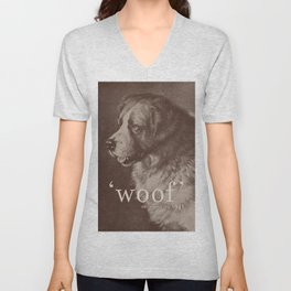 Famous Quotes #1 (anonymous dog, 1941) Unisex V-Neck