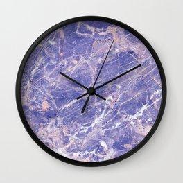 Marble Art V9 #society6 Wall Clock