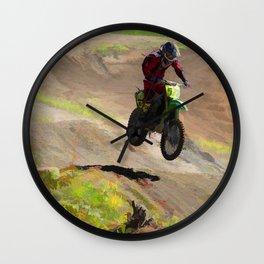 Motocross Moguls Wall Clock