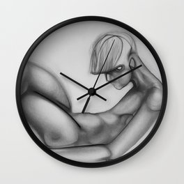 Figure of a boy resting Wall Clock