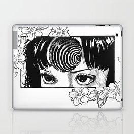 Junji Ito with cherry blossoms Laptop & iPad Skin