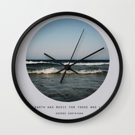 The Earth Has Music Wall Clock