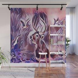 A 10 Point Deer Buck Crossing the Lake Wall Mural