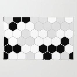 Honeycomb Pattern   Black and White Design   Minimalism Rug