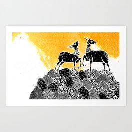 Animal series - DEER Art Print
