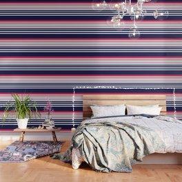 Striped red blue white Wallpaper