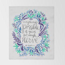 Anything's Possible – Silver & Blue Throw Blanket