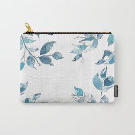 Blue leaves1 by GosiandHelena Carry-All Pouch