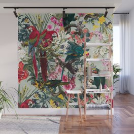 FLORAL AND BIRDS XXII Wall Mural