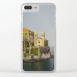 Villa at Lake Como Clear iPhone Case