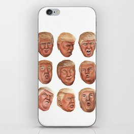 Faces Of Donald Trump iPhone Skin