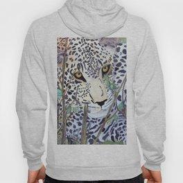 Never Resting - Leopard by Maureen Donovan Hoody