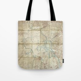 Map of Yellowstone National Park (1886) Tote Bag