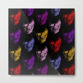 Colorful X-Ray Skulls Pattern Metal Print